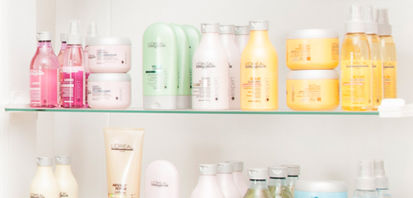 Shelves of products