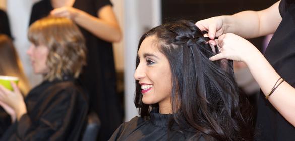 Bloggs client get hair cut